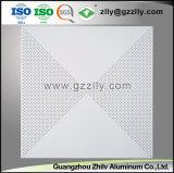 Furação de materiais decorativos Forro de alumínio perfurados