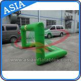 Objetivo inflável da associação do objetivo da água do futebol/água com rede