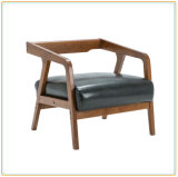 단단한 경재 팔걸이 뒤 베개를 가진 거실 소파 의자