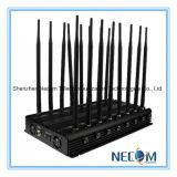 16 emittente di disturbo potente del telefono di VHF 3G 4G di frequenza ultraelevata di GPS WiFi Bluetooth Lojack delle antenne 42W, stampo portatile del telefono mobile di WiFi Bluetooth 3G 4G