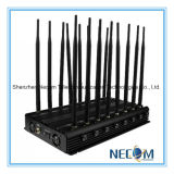 42W de krachtige GPS WiFi Bluetooth Lojack UHFVHF van 16 Antennes 3G 4G Stoorzender van de Telefoon, Draagbare Blocker van de Telefoon van WiFi Bluetooth 3G 4G Mobiele