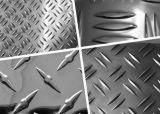 Eine u. zwei Stäbe poliertes Aluminiumblatt/Ring