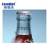 Fabricante de la impresora de inyección de tinta de la impresora de inyección de tinta de la botella de cristal del código del tratamiento por lotes de Leadjet V98