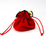 ギフトのための卸し売り赤いビロードのドローストリングの塵の袋