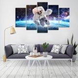 Astronauten des HD Druck-5PCS im Platz-Segeltuch-Wand-Kunst-Druck, der moderne Hauptdekor-Farbanstrich-Wohnzimmer-Dekor-Abbildung anstreicht