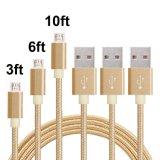 Tissu de nylon tressé Câble micro USB pour la synchronisation des données câble du chargeur de cordon de charge