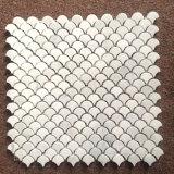 Bianco Carrara Mármol Piedra Blanca de forma de Ventilador de piso de baldosa mosaico de pared