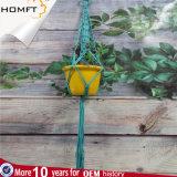 マクラメのプラントハンガーの屋内園芸植物の鍋つかみ