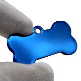 Niedriger Preis-Edelstahl-Knochen-geformte Hundesublimation-Leerzeichen-Metallhundeplakette