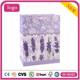 Bolsas de papel revestidas del regalo del arte púrpura de la manera de la lavanda