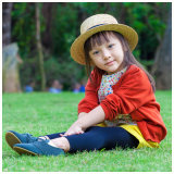 Vêtements de petites filles de laines de 100% pour le printemps/automne