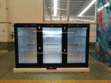 Стеклянные втройне двери под холодильником штанги охладителя штанги задней части счетчика миниым с стеклянной ценой по прейскуранту завода-изготовителя китайца двери