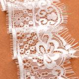 Tulle bordó la tela moldeada Corded nupcial del cordón