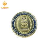 Moneda de oro de encargo promocional al por mayor del recuerdo del desafío de China