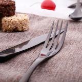 Couteau de vente chaude cuillère de fourche élégant ensemble de l'or en acier inoxydable Ustensiles
