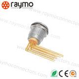 Metallo Recetpacle in opposizione ODU compatibile del connettore della videocamera dei perni dell'uovo 0b 5