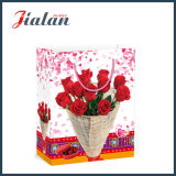 Diseño de flores San Valentín de embalaje de regalo bolsa de papel comercial