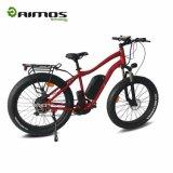 2017 bici elettrica di fabbrica di prezzi 26inch della montagna grassa poco costosa della gomma con il freno idraulico