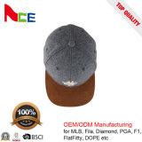 2017熱い販売法のカスタムフランネル100%のウール6のパネルの急な回復の冬の帽子