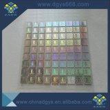 Hot Stamping personalizada etiqueta holograma tela se utiliza para