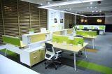 現代様式の優れたスタッフの区分ワークステーション事務机(PS-LNPS-04)