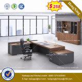 Стол управленческого офиса L-Формы офисной мебели меламина (HX-8NE025)