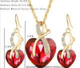 党結婚式のためのハート形の水晶ジルコンNecklace+のイヤリングの模造宝石類
