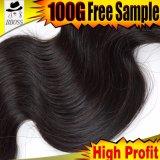 Cheveux humains d'onde de corps de Brésilien de 100%, prolonge de cheveu