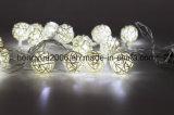 10 Diseño clásico LED Solar LED blanco cálido de la luz de la cadena de rota