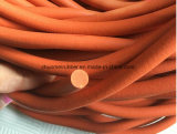 Cable de espuma de silicona redondo rojo