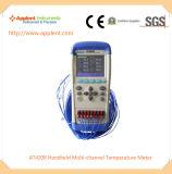 8-Kanal- LCD-Bildschirmanzeige-Digital-Thermometer (AT4208)