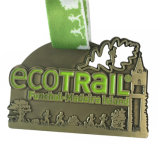Медаль металла поднятия тяжестей эмали логоса сплава 3D цинка мягкое