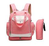 La moda bolso personalizado Mamá Mochila roja de pañales para bebés