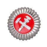 Золотой отделкой полиции эмблему с мягкой эмали (ELE-эмблемы001)
