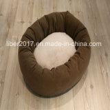 工場ペット家具OEMのプラシ天犬のベッドのクッション猫の犬小屋のソファー