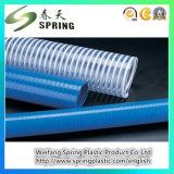 Manguito reforzado industrial del tubo de succión de la irrigación del resorte espiral del PVC