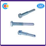 De alta resistencia operada manualmente no estándar del borde del tornillo del tornillo principal hexagonal galvanizada