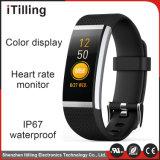 2018 Venta caliente pantalla color Monitor de Frecuencia Cardíaca calorías impermeable Pulsera inteligente para el Deporte