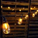 IP65 E27 G40 NOIR String la lumière de jardin décoration murale