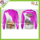 Chemise de pêche de chemise de Rapide-Séchage de Dreamfox longue avec l'impression de sublimation