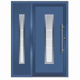 China Proveedor de Oro de la puerta frontal de aluminio de diseños de puerta de cristal