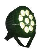 1つの防水段階の同価ライトに付き高品質LED9*12 RGBWA 5つ