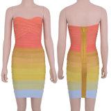 Venda por grosso colorido vestido de bandagem Sexy vestido de Cocktail vestido de celebridades