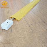Rampa flexível do protetor do cabo do revestimento amarelo do PVC do preço de grosso