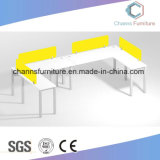 Stazione di lavoro di legno CAS-W1806 dell'ufficio del divisorio di colore giallo di figura di U