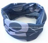 중국 공장 생성 주문 로고 회색 위장 인쇄 폴리에스테 목 관 스카프