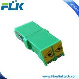 Adaptador a dos caras óptico del LC de la fibra de la telecomunicación con el obturador auto