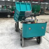 2t triciclo pesado del motor eléctrico de las ruedas del cargamento cuatro, descargador Vehical del cargo del coche de cuatro ruedas