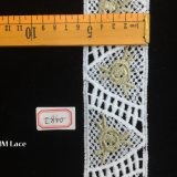 5.5cm Geometrie-Dreieck-symmetrische Blumen-Zutat-Spitze für Dame Blouse Hme840