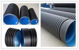 HDPE doppel-wandiges gewölbtes Rohr/mit hoher Schreibdichtepolyäthylen-Rohr